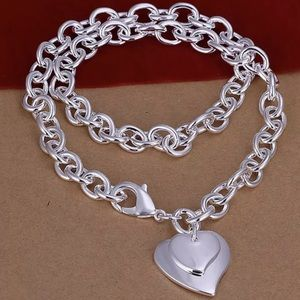 Jewelry - Double stack silver heart necklace